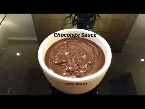 Chocolate sauce for ice cream with cocoa