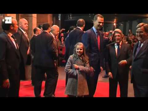 La Princesa Leonor asiste junto a Felipe VI en el Calderón al Atlético-Bayern