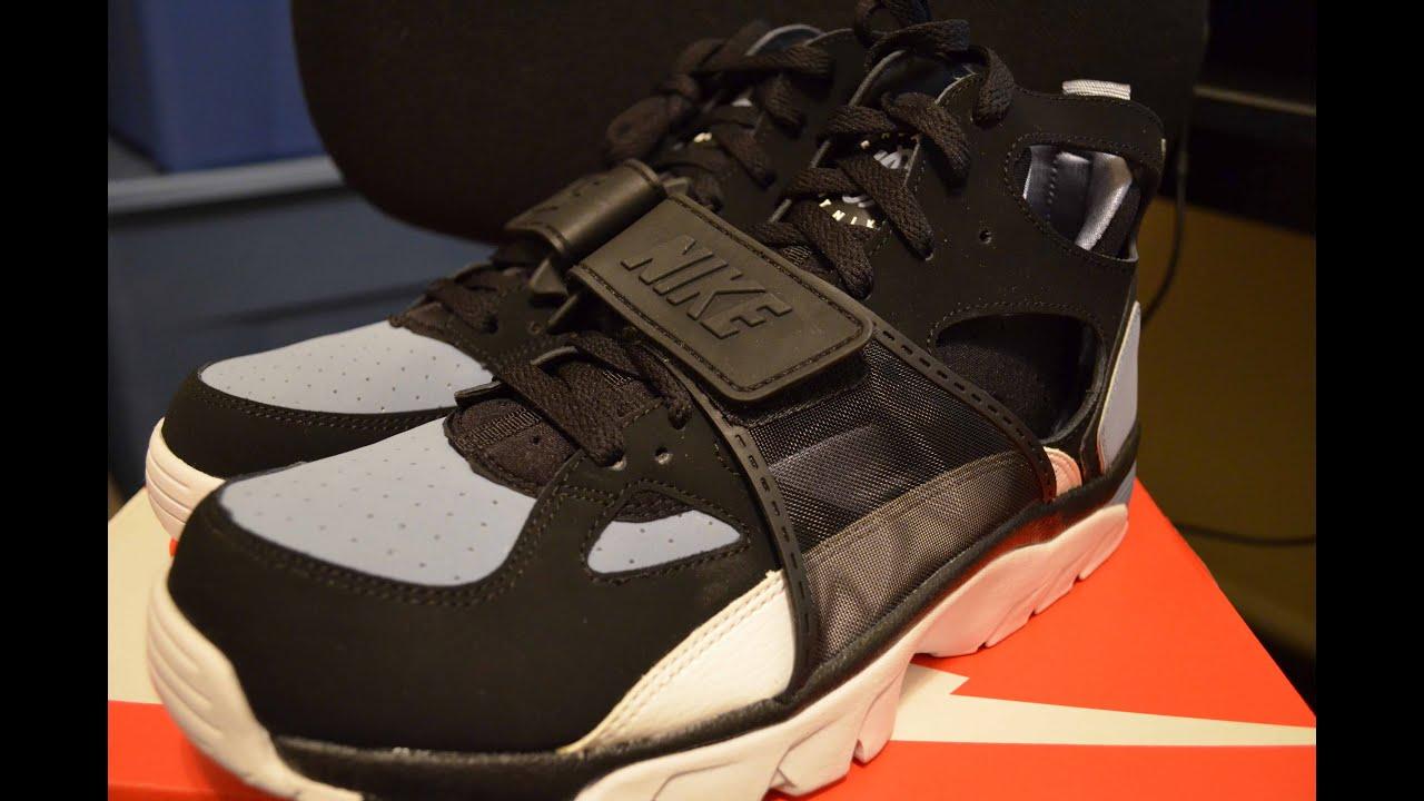 Nike Air Trainer Huarache 1992 Original Black Grey Review LIVE! Bo Jackson