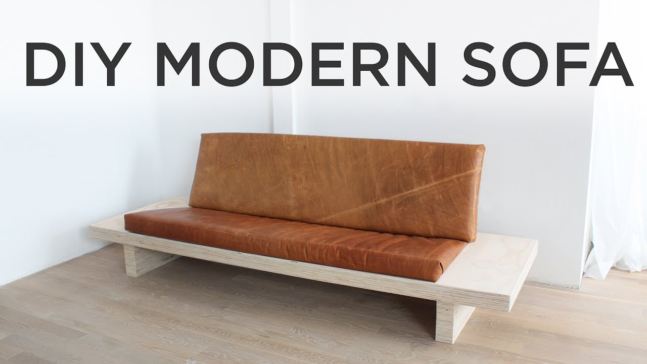 Diy Modern Sofa How To Make A Sofa Out Of Plywood Youtube