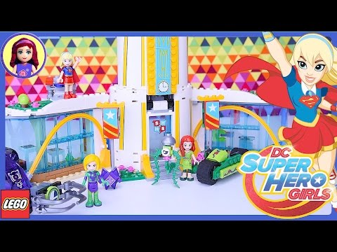 LEGO DC Superhero Girls Super Hero High School Build Part 1 Review Silly Play - Kids Toys
