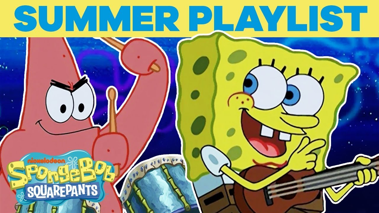 SpongeBob's Top Summer Playlist ft  Campfire Song & More! 🎶 | #TuesdayTunes
