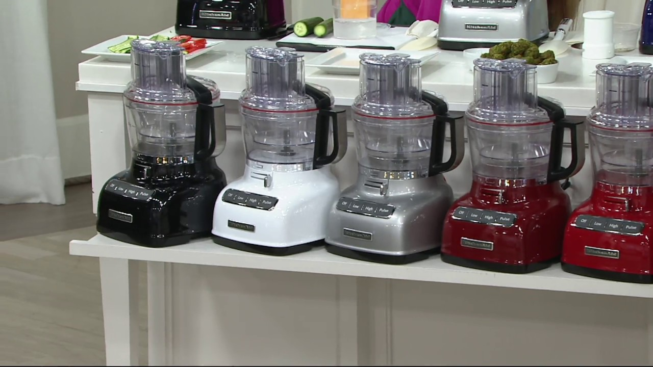 Kitchenaid 9 Cup Exactslice Food Processor W Julienne Disc On Qvc