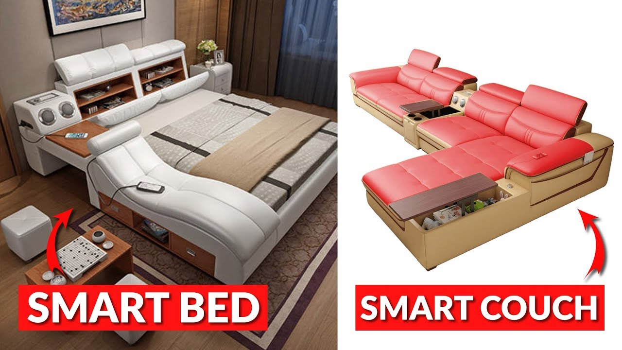Incredible Smart Bed and Smart Couch (Future Furniture)