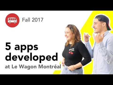 5 apps developed at Le Wagon Montréal - Batch #98