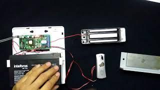 Ligação Eletroímã de forma simples com botoeira.