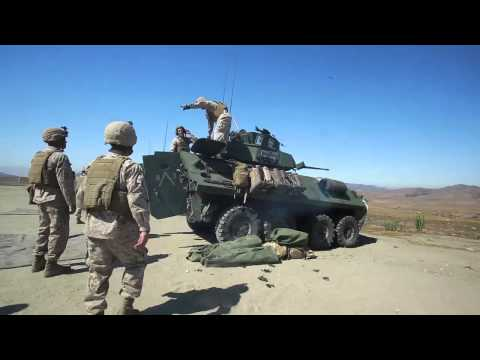 U.S. Marine Corps 1st Light Armored Reconnaissance Battalion weapons training exercise!