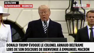 Donald Trump rend hommage au colonel Beltrame
