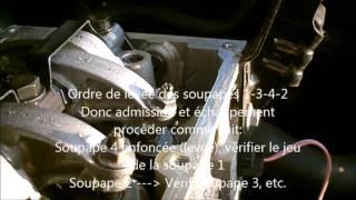 Réglage du jeu aux soupapes moteur D7F