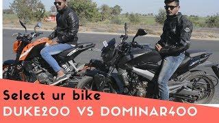 Duke 200 ABS vs Dominar 400 2019