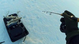 Ловля судака на вибы зимой или как могучудмурт были в гостях на базе KZN Fishing
