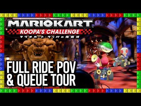 Mario Kart: Koopa's Challenge FULL RIDE WITH AR & QUEUE TOUR - Super Nintendo World