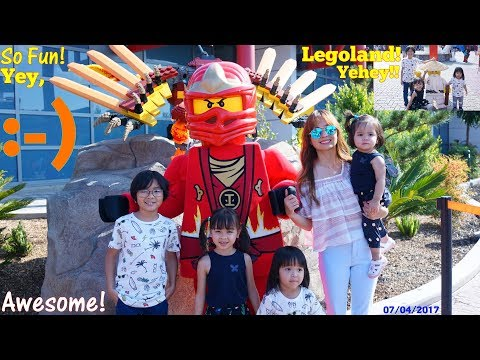 Amusement Theme Park! Our Trip to Legoland Resort. Ninjago, Legoland City, Kiddie Rides and More