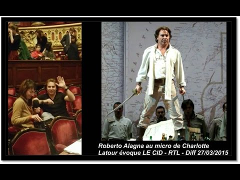 Roberto Alagna | INTERVIEW Radio | RTL 27/03/2015 | LE CID à Garnier