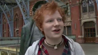 Ed Sheeran before he was famous - Street performing Video