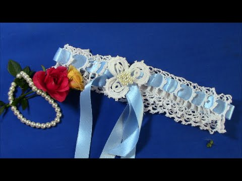 Irish crochet basics an easy wedding garter youtube irish crochet basics an easy wedding garter solutioingenieria Images