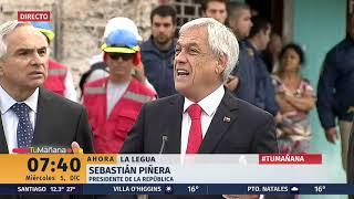 Piñera lidera destrucción de muros en La Legua: