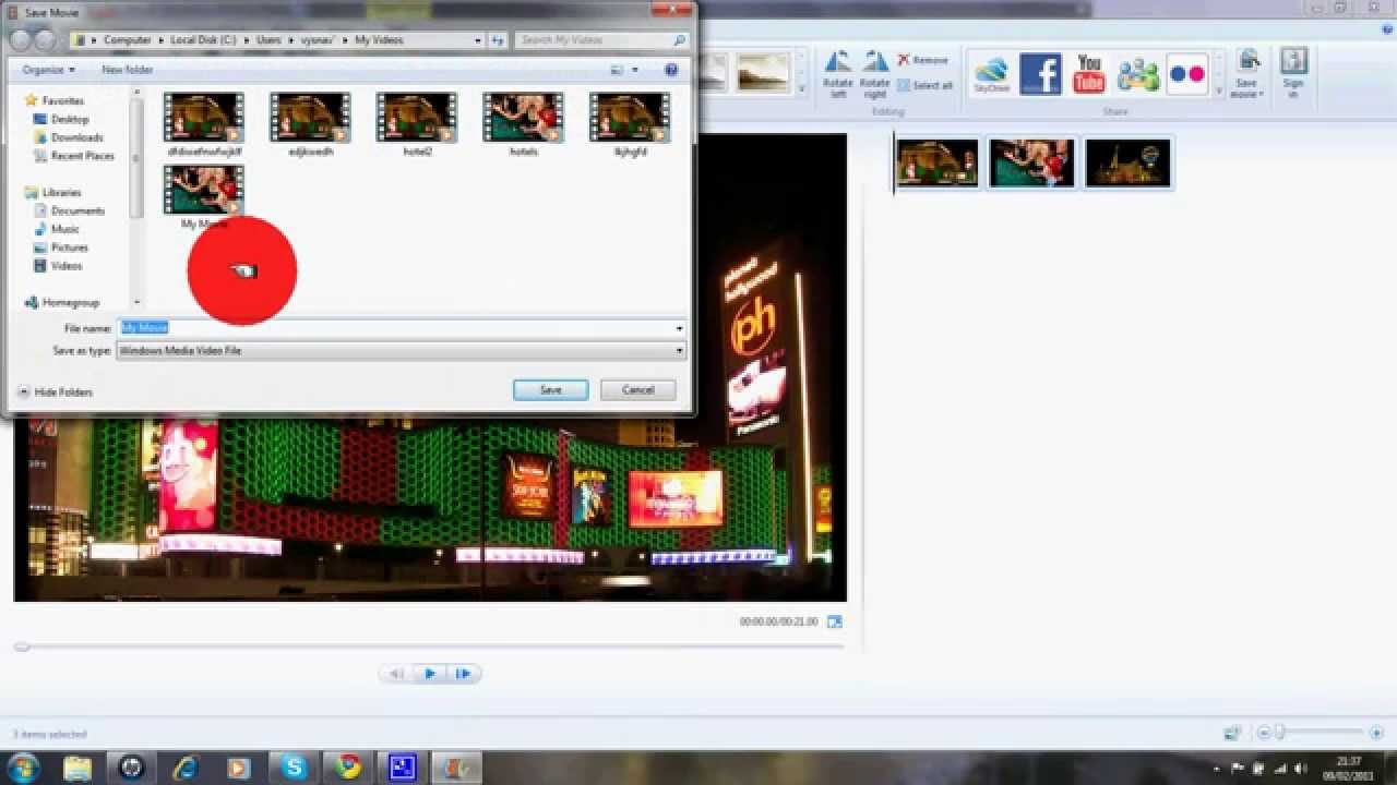 how to save windows movie maker file into wmv file for