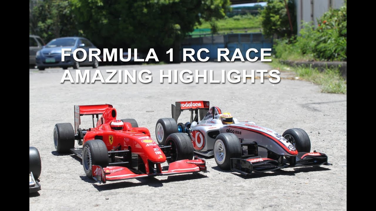 17 F1 RC Cars Racing Simultaneously   Radio Control Formula One Race    YouTube