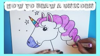 How To Draw A Rainbow Unicorn!