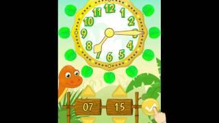Дино учитель  обучение времени и часам