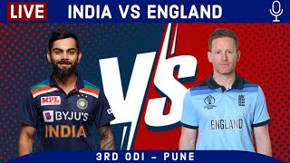 LIVE Ind vs Eng 3rd ODI INDIA INNINGS Score & Hindi Commentary | Ind Vs Eng 2021 Live cricket match