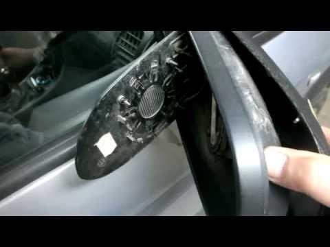 Как снять накладку защиту зеркала заднего вида на опель зафира А