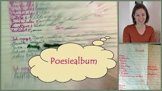 Mein Poesiealbum Tag