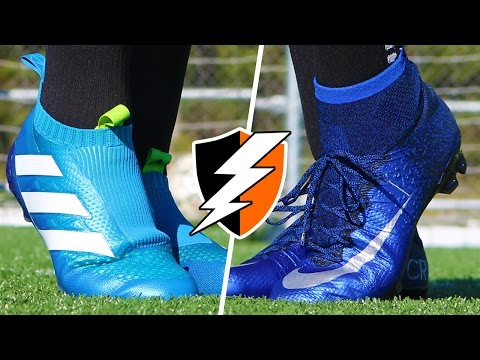 CR7 Superfly V Purecontrol   Blue Nike Mercurial Cleats Vs. Adidas ACE16+ Football Boots