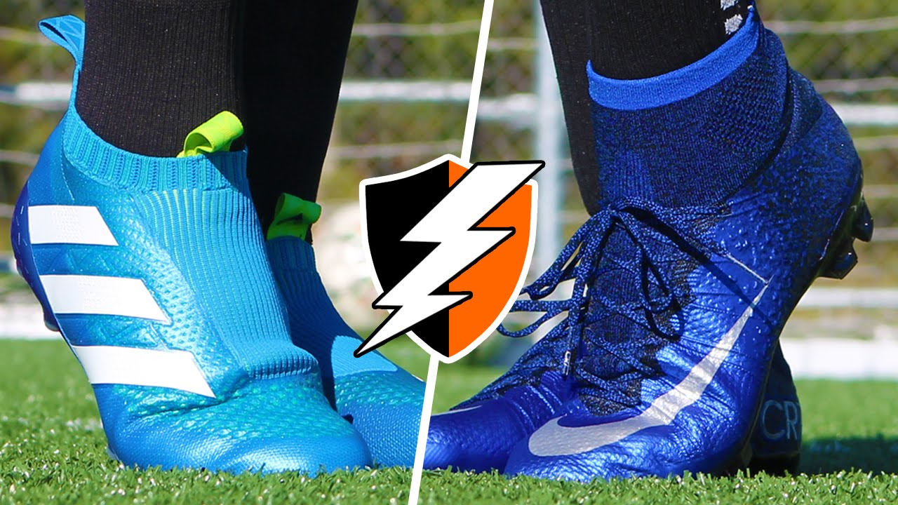 CR7 Superfly v Purecontrol | Blue Nike Mercurial Cleats vs. adidas ACE16+  Football Boots - YouTube