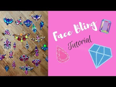 How to make make Gem Clusters ( Face Bling) for Face paint / festival glitter designs