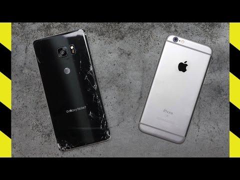 Galaxy Note 7 vs. iPhone 6S Drop Test!