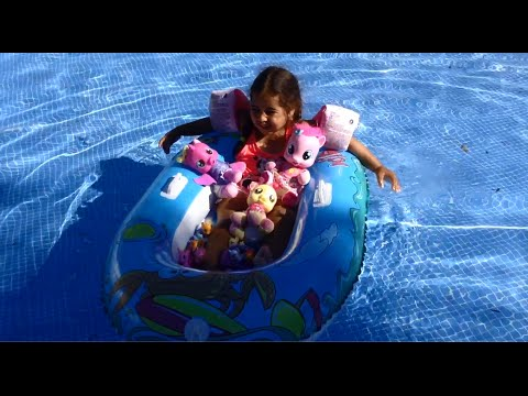 Mlp Pool Party Splash With My Little Pony Toys Youtube
