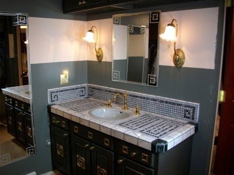 choosing materials to build a mosaic vanity top