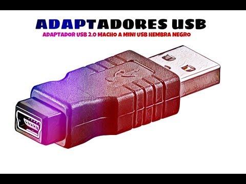 Video de Adaptador USB 2.0 macho a mini USB hembra  Negro