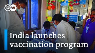 Download India starts vaccinating its 1.3 billion people against COVID | DW News