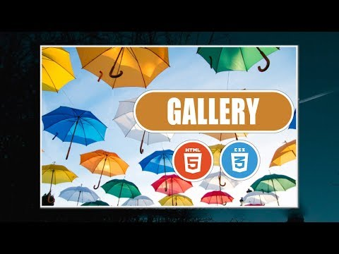 How To Create Image Gallery In HTML, CSS And No JavaScript