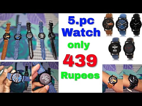LR-12578 Latest Multicolor Set Of 5 For Men And Boys Analog Watch For Men | Unboxing & Review Videos