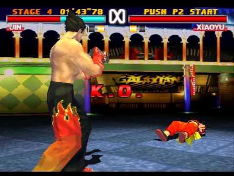 Tekken 3 Jin Kazama Hard Difficulty Playthrough