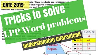 Tricks For LPP Word Problem/Formulation | Operational Research In HINDI | Gate-19
