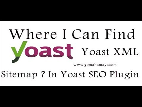 where i can find yoast xml sitemap in yoast seo plugin gomahamaya