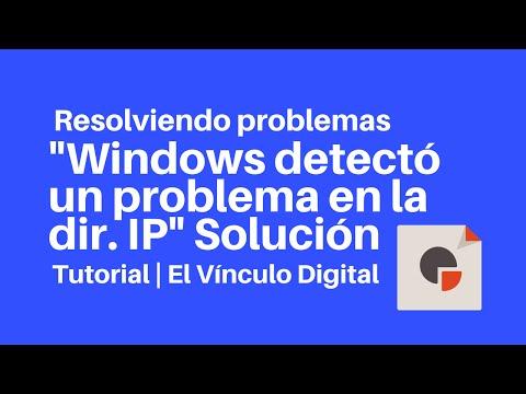 """Como solucionar el error """"Windows detectó un conflicto en la dirección IP"""""""