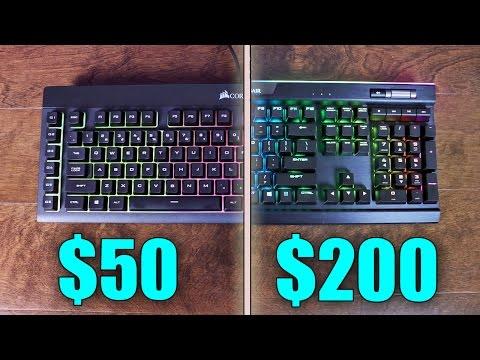 $50 vs $200 Gaming Keyboard - Corsair K55 vs K95 Platinum