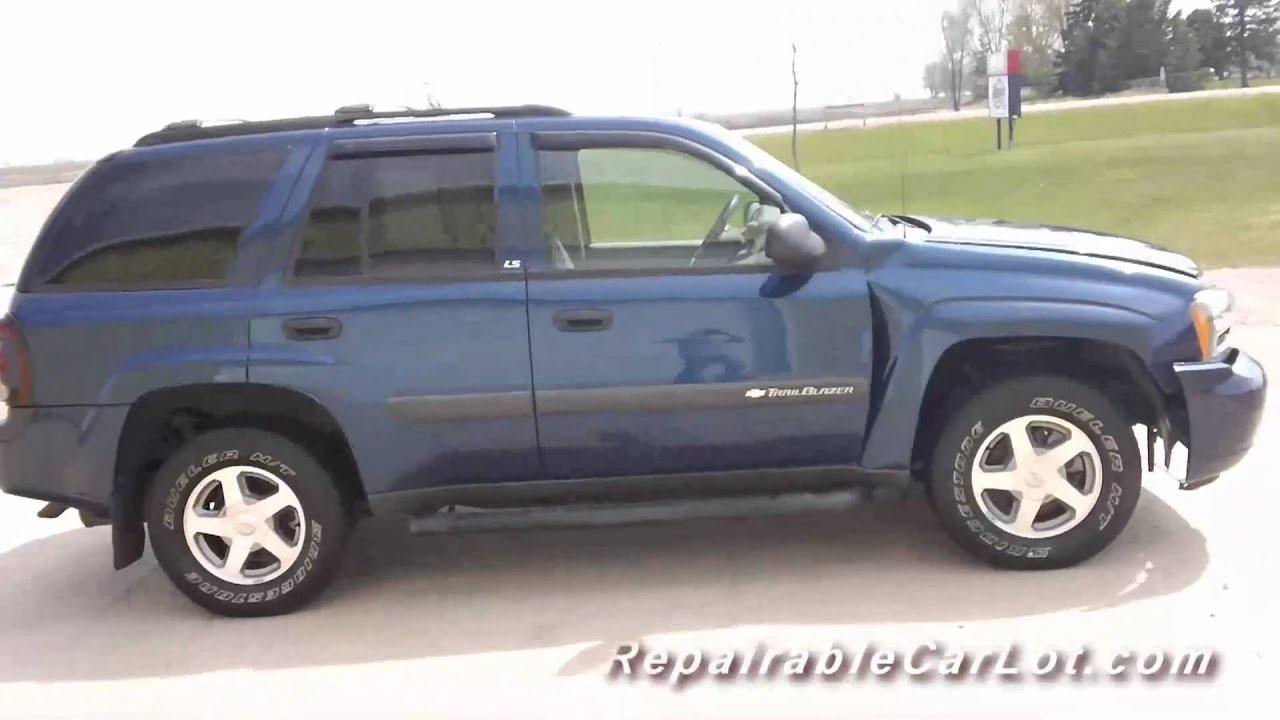 2004 Chevrolet Trailblazer LS 4x4 - Repairable wrecked SUV ...