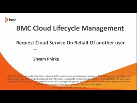 CLM: Requesting Cloud Service On Behalf Of Others Using Admin Console