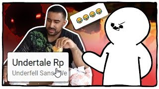 YOUTUBE IN THE LAST HOUR - UNDERTALE RP & FOOD CHALLENGES