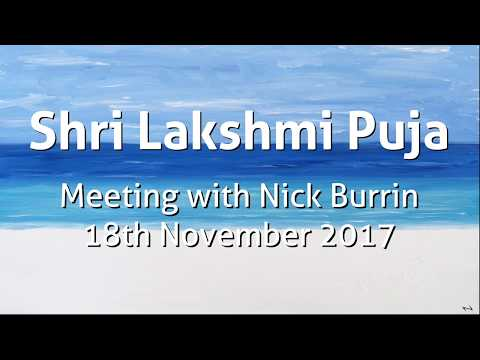 Nick Burrin   Shri Lakshmi Puja 18th November 2017