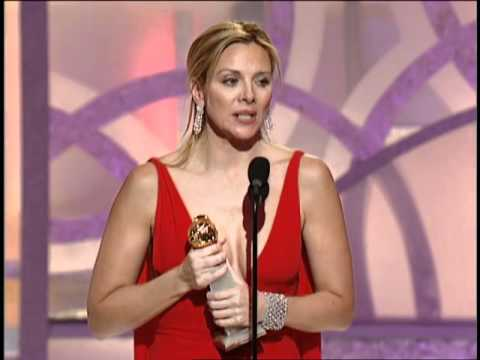 Kim Cattrall Wins Best Supporting Actress TV Series Musical Or Comedy - Golden Globes 2003
