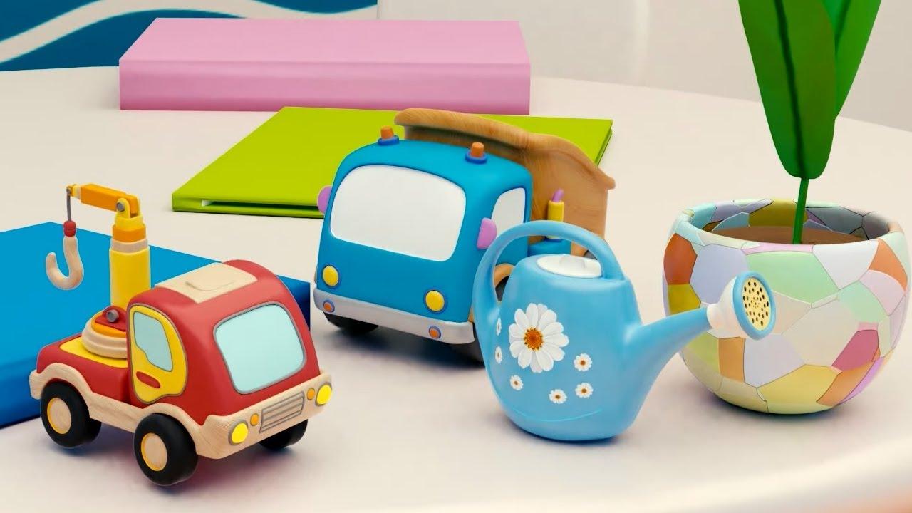 Машинки Мокас 🚕 Горшок с цветами 🚙 Развивающие мультики для детей и малышей 🚗