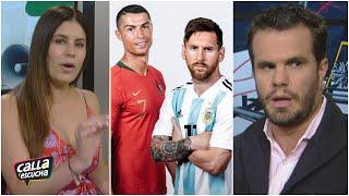 Carolina Padrón discute con Ricardo Puig por Lionel Messi y Cristiano Ronaldo | Calla y Escucha